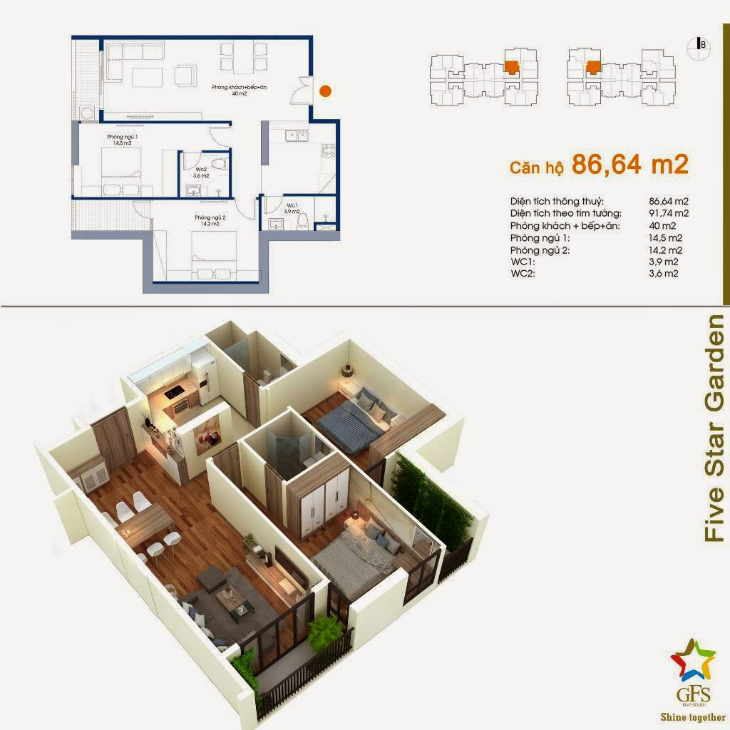 chung cu five star garden can ho 86.64m2