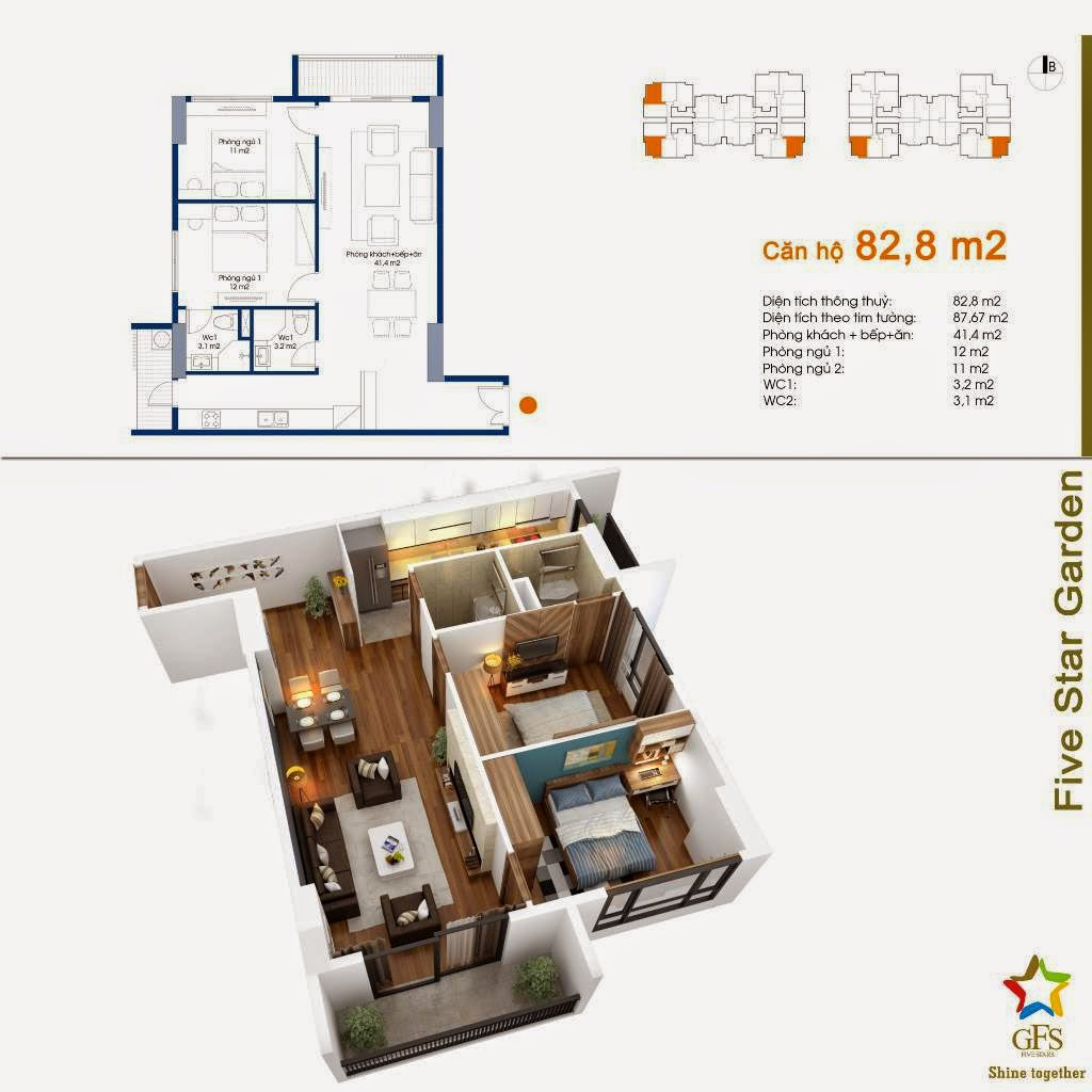 chung cu five star garden can 82 8m2